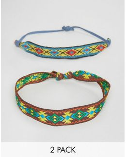 Festival Geometric Multi Colour Bracelet Pack