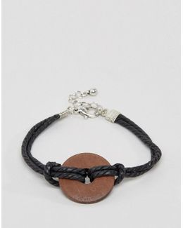 Bracelet With Wooden Circle