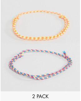 Fine Plait Bracelet 2 Pack