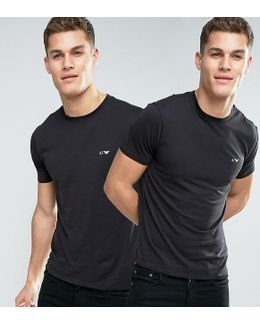2 Pack T-shirt Regular Fit Black/black