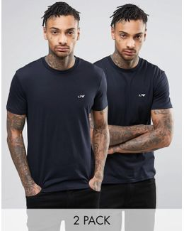 2 Pack T-shirt Regular Fit Navy/navy
