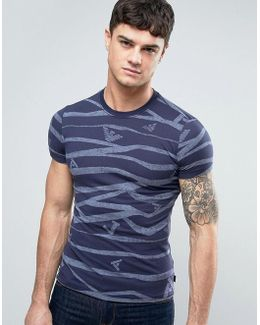 All Over Logo T-shirt Slim Fit In Blue