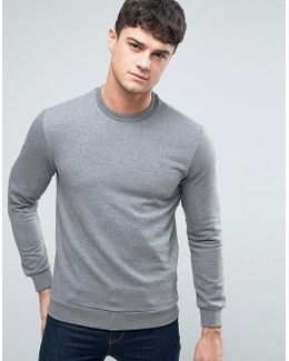 Logo Crew Sweatshirt Regular Fit In Gray Marl