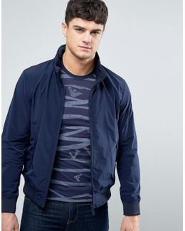 Nylon Bomber Jacket In Navy