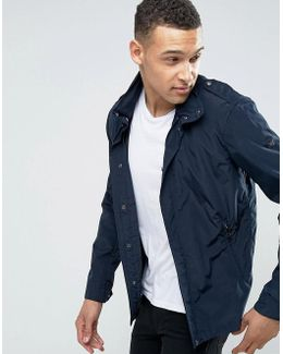 Hooded Jacket Slim Fit In Navy