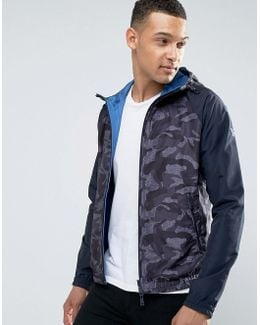 Hooded Camo Jacket In Blue