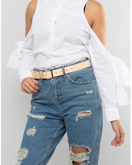 Leather Rose Gold Buckle Waist And Hip Belt