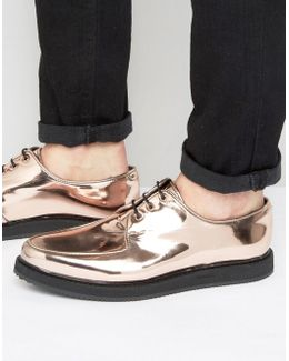 Lace Up Brothel Shoes In Copper