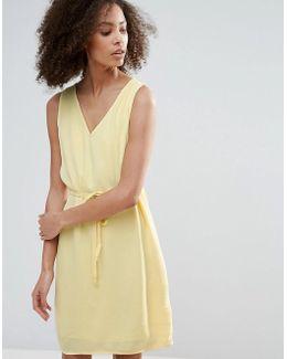 Belted Drawstring Dress