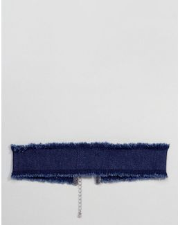 Choker In Indigo Denim