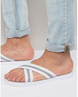 Jeans Flip Flop In White