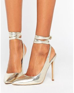 Pipe Down Pointed High Heels