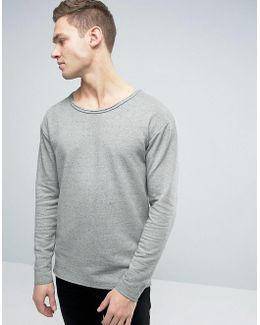Originals Sweatshirt With Dropped Shoulders And Raw Edges