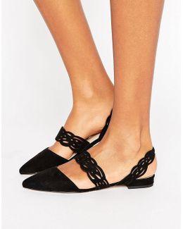 Lattice Ballet Flats
