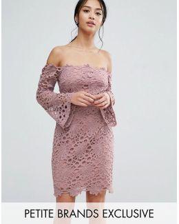Bardot Cutwork Lace Mini Dress