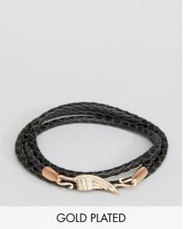 Leather Wing Bracelet