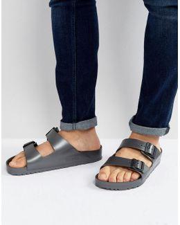 Arizona Eva Metallic Sandals In Anthracite