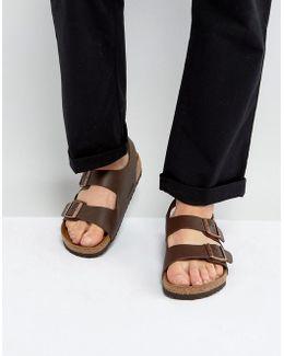 S Milano Sandals In Dark Brown