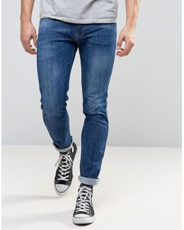 Anbass Slim Stretch Jeans Mid Wash
