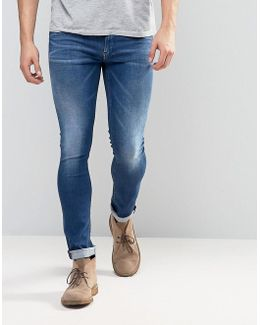 Jondrill Skinny Powerstretch Jeans Dark Blue Wash