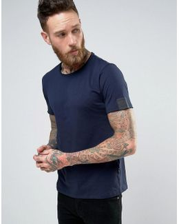 Raw Edge Scoop Neck T-shirt