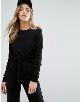 Tie Front Knitted Sweater