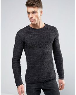 Cotton Waffle Knit Pullover