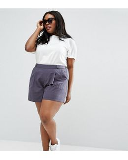 Pleated Linen Culotte Shorts