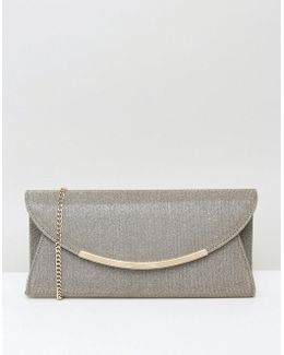 Delilah Foldover Clutch In Bronze