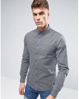 Woven Pattern Slim Fit Shirt