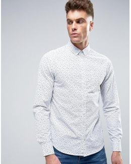 Slim Fit Patterned Shirt