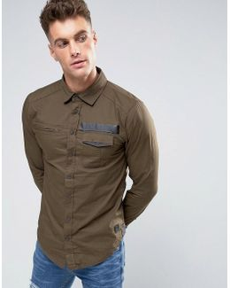 Slim Fit Utility Style Shirt
