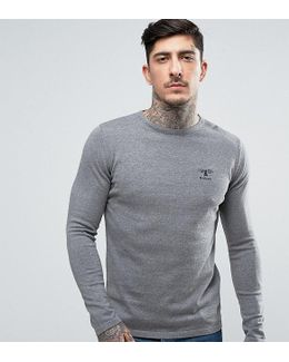 Jumper With Beacon Logo In Grey Marl