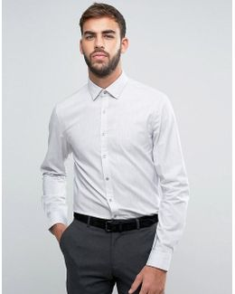 Skinny Smart Shirt In Melange