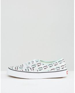 Authentic Trainers With Mod Eye Print