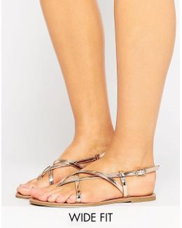Frolic Wide Fit Flat Sandals