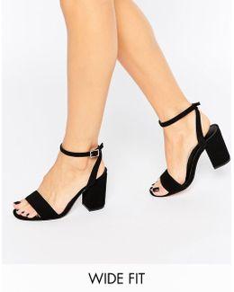 Heron Wide Fit Heeled Sandals