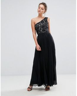 One Shouldered Maxi Dress