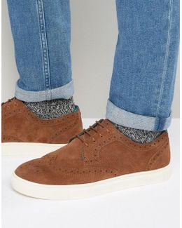 Rachet Suede Brogue Sneakers
