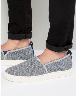 Zhangg Pattern Slip On Sneakers