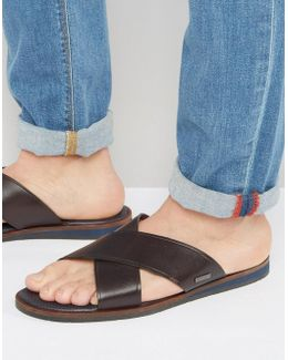 Punxel Leather Cross Over Sandals