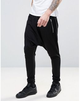 Lightweight Extreme Drop Crotch Jogger With Zip Pockets