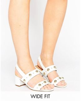 Horwich Wide Fit Studded Sandals