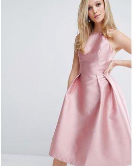 Structured Satin Prom Dress