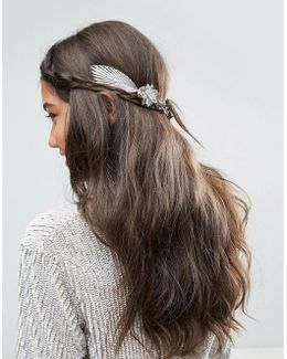 3d Flower Leaf Back Hair Crown