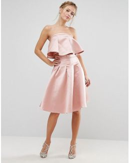 Occasion Midi Skirt In Satin Co-ord