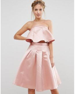 Occasion Crop Top In Satin Co-ord