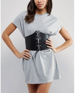 Extra Wide Lace Up Corset Belt