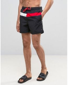 Large Flag Swim Shorts In Black