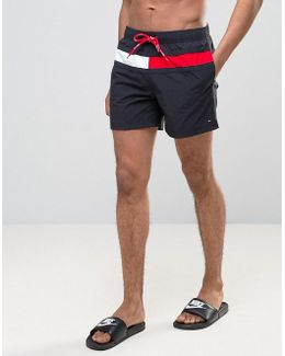 Large Flag Swim Shorts In Navy